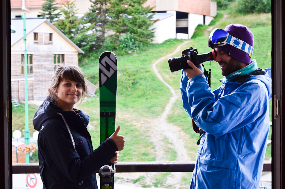 Shooting introduction with Mathieu - Les Deux Alpes