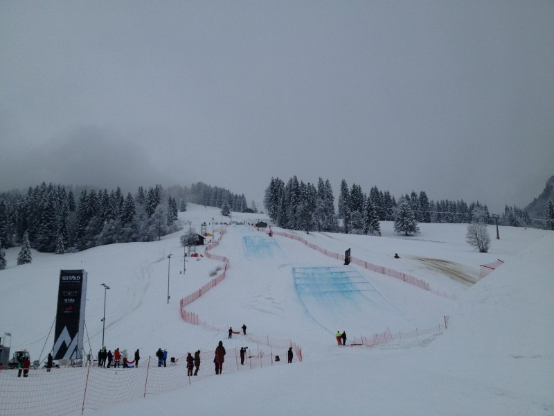 Gstaad slopestyle course under the sun :)