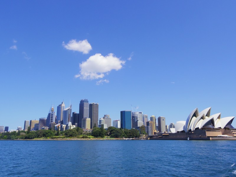 View from the ferry to Manly beach. Opera house on the right :)