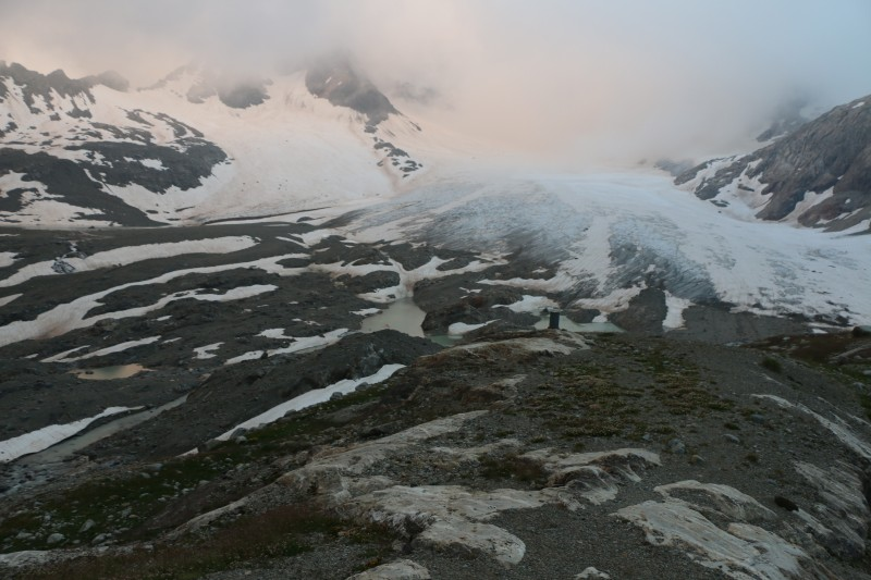 The glacier from bellow - evening lights