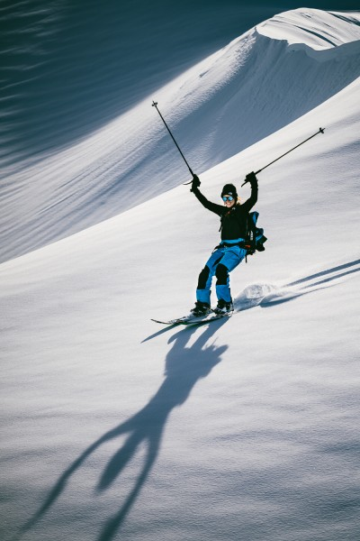 Marion and the joy of splitboarding.